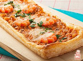 海老とモッツァレラの濃厚パイピザ