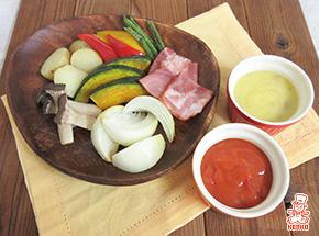 グリル野菜と2種のアレンジガリバタソース