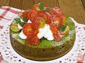 小松菜とトマトのケーキ