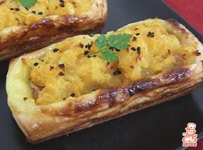 くるみとカスタードの安納芋デニッシュ|さつまいも料理|パンレシピ