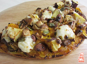 パンプキンとマスカルポーネのナッツたっぷりピザ