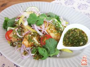 白身魚のエスニック風サラダ【エスニック料理特集|肉・魚レシピ】