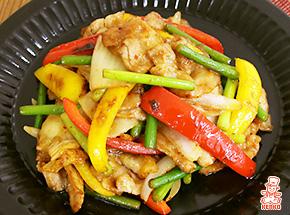 にんにくの芽入りスタミナ豚キムチ|料理レシピ