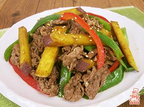 さつまいもと牛肉の味噌炒め|おかずレシピ