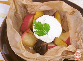 さつまいもとりんごの包み焼き|デザートレシピ
