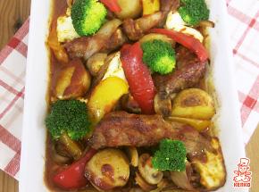 スペアリブとカラフル野菜のグリル
